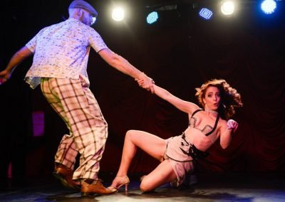 Sydney Australia Burlesque Dancers Kelly Ann Doll & The Tasteless Gentleman